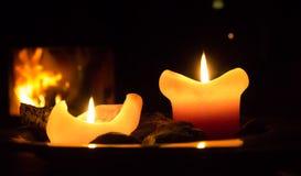 Burning candle Royalty Free Stock Image