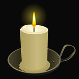 Burning candle Royalty Free Stock Image