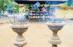 The burning candle sticks Stock Photo