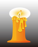 Burning candle. Vector graphics, cartoon painted candle Royalty Free Stock Images
