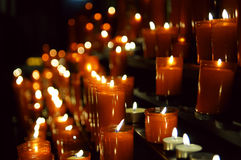 Burning candles stock photo