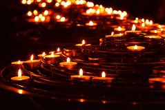 Burning candles royalty free stock photo