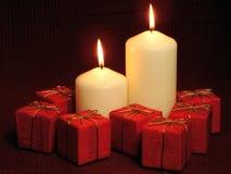 Burning Candles. – Christmas Decoration Stock Photos