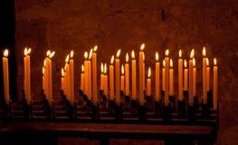 Burning candles Stock Image