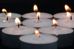Burning Candles. Multiple burning candles stock photos