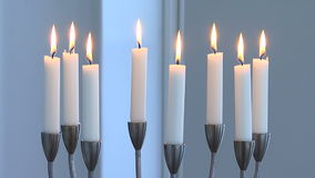 Burning candles stock video
