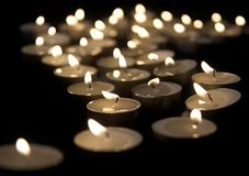 burning candles Στοκ Φωτογραφίες