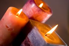 Burning candles Royalty Free Stock Image