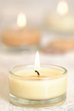 Burning Candles. Burning aromatherapy candles for relaxing royalty free stock photos