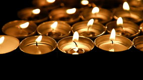 Burning candles background stock video