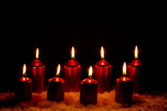 Burning Candles Stock Photography