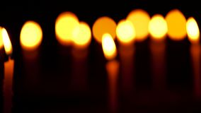Burning Candles Blur To Focus Clip