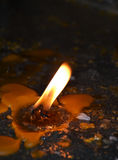 Burning candles in a church Royalty Free Stock Photography