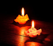 Burning candles Stock Photos