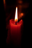 Burning candles in the dark Stock Photography