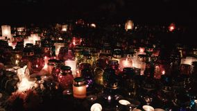 Burning candles on the day of the dead stock video footage