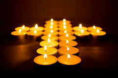 Burning candles. Royalty Free Stock Images