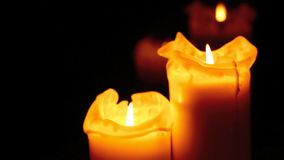 Burning candles stock video footage