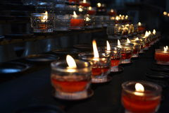 Burning candles. Great for topics like religion, nostalgia, Halloween, funeral etc Royalty Free Stock Photography