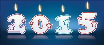 Burning candles 2015. Illustration Vector Illustration