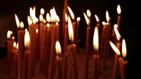 Burning candles Part I stock video footage