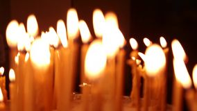 Burning candles Part IV stock video footage