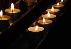 Burning candles. Shallow depth of field stock photography