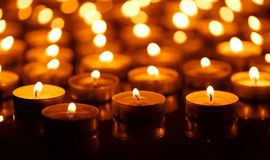 Burning candles with shallow depth of field Stock Image