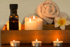 Burning candles wellness Royalty Free Stock Photos