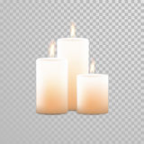 Burning candles wicks vector  set Royalty Free Stock Photos