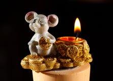 Burning candlestick Royalty Free Stock Photography