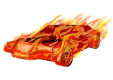 Burning car Royalty Free Stock Image