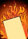 Burning card Royalty Free Stock Photography