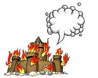 Burning castle-100 Royalty Free Stock Photography