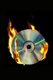 Burning CD Fotografia de Stock Royalty Free