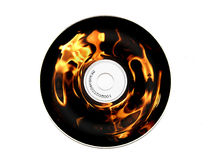 Burning CD Royalty Free Stock Image