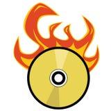 Burning Cd Image libre de droits
