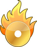Burning CD / DVD Royalty Free Stock Image