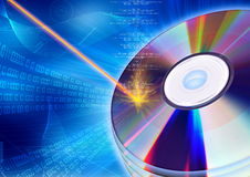 Burning CD / DVD  concept Royalty Free Stock Images