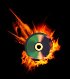 Burning CD. Stock Photo