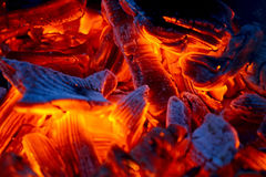 Burning charcoal Royalty Free Stock Image
