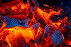 Burning charcoal. Close up,  background Royalty Free Stock Image