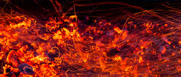 Burning charcoal as background Royalty Free Stock Images