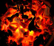A burning charcoal for background Stock Image