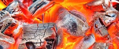 Burning Charcoal Background Royalty Free Stock Photos