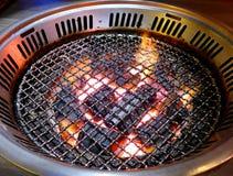 Burning charcoal Stock Image