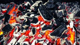 Burning charcoal Royalty Free Stock Photo
