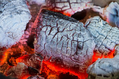 Burning charcoal texture Royalty Free Stock Photography
