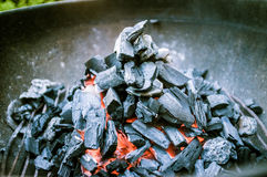 Burning Charcoals Royalty Free Stock Photography
