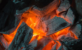 Burning charcoals Stock Photography